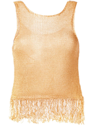 Forte Forte fringed knit tank top