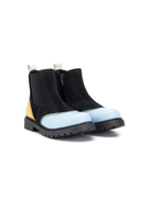 Marni Kids contrasting panels ankle boots