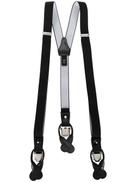 Tagliatore leather-trimmed suspenders