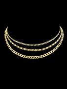 فيلويس الذهب متعدد الطبقات سلسلة بوهو قلادة اكسسوارات نسائية