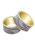 Purple-8 Geometric Pattern Finger Rings