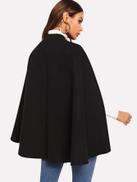فيلويس معطف كيب زر واحد