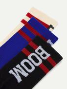 Men Letter Pattern Socks 3pairs