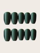 Matte Coffin Fake Nail 24pcs With Tape