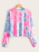 SHEIN Drop Shoulder Tie Dye Pullover
