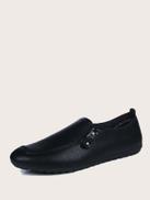 Men Slip On Side Zip Decor Loafers
