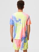 SHEIN Men Cartoon Graphic Tie Dye Top & Shorts Set