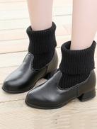 Girls Fold Over Elastic Sock Boots
