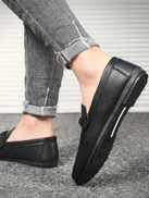 Men Metal & Stitch Detail Loafers