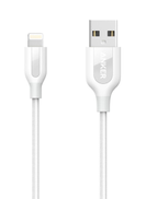 Anker PowerLine+, Lightning to USB 2.0, Sync & Charge Cable, 3.00 ft 91.44 cm , White A8121H22