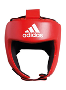 adidas Aiba Boxing Head Guard Red White S
