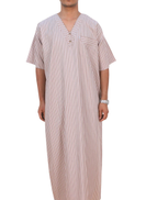 Al Wajaha Traditional Thobe Light Brown
