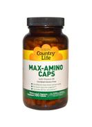 Country Life Max-Amino Caps Dietary Supplement - 180 Vegetarian Capsules