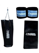 Fitness World Sand Bag With Pair Of Hand Strap And Boxing Bag Case Cover