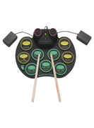 Generic Rechargeable Lithium Battery Roll Up Electronic Drum With Drumstick And Foot Pedals