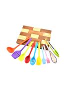 10-Piece Heat Resistant Non-Stick Spoon Spatula Set Multicolour