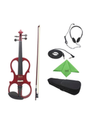 Maple Wood Electric Violin Set With Fittings Cable Headphone Case