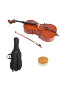 4-Piece Cello Finish Basswood Face Board With Carrying Bag Set