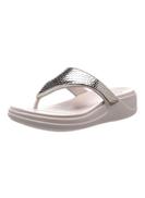 crocs Monterey Synthetic Flip Flops Silver Platinum