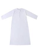 Generic Traditional Stand Collar Kaftan White