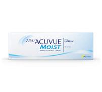 1-Day Acuvue Moist Contact Lens - 30 Pack, Clear, -6.5