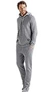 Hanro Men's Neo Hoodie, Grey Double Face, XX-Large
