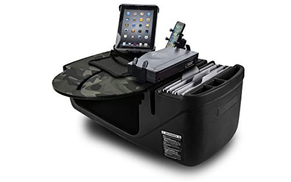 AutoExec AUE49650 RoadMaster Car Desk Green Camouflage Finish with Phone Mount, Printer Stand and Tablet Mount