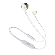 JBL Tune 205BT On Ear Bluetooth Headset, White and Gold - JBLT205BTCGD