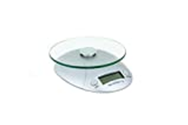 Fox Run Digital Kitchen Scale with Removable Glass Tray, 7.25 x 6 x 1.5 inches, Multicolored