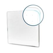 Floortex Viztex Glacier Magnetic Glass Dry Erase Board. Multi-Purpose Grid 14