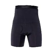 ملابس داخلية رجالية عالية الخصر للتخسيس وتنسيق البطن السيطرة على البطن ملابس داخلية مقاس XL اسود X-Large