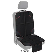Car Seat Protector, Luckybay 1 Pack Kids Seats Protector XL Size with Thickest Padding and Non-Slip Backing, 2 Mesh Pockets, Durable, Waterproof 600D Fabric PVC Leather for Baby Kids and Pet 1 Pack