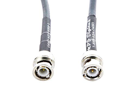 MPD Digital RG8x-bnc-antenna-cable-1M RG-8X MILSPEC Mini-8 Coax with BNC Male to BNC Male Connectors On RG8x Jumpers - with Polyolefin Strain Relief