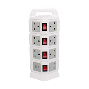 Other Vertical Power Strip 4 layers, 11 outlets with 2 USB ports, White,714