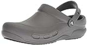 حذاء قبقاب بيسترو للرجال والنساء من كروكس, سليت غراي, 10 Women 8 Men