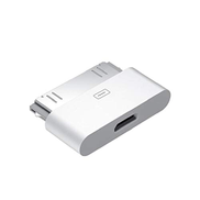 Other Android Micro USB to Iphone 4 30-Pin Converter Adapter for Iphone 4 4S Ipod 3 Ipod 4 Ipod Touch White Color