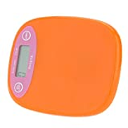Anself Mini Electronic Balance Professional Digital Pocket Scale Kitchen Scale Food Weighing Tool Orange White