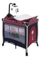 Bed and Playground by Almulla for Children, Red