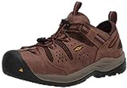 KEEN Utility Men's Atlanta Cool II Low Steel Toe Work Shoe Construction, Shitake Rust, 9.5 W US