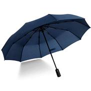 Freeship Deals Umbrella automatic Folding travel Umbrella Unisex Windproof Umbrella Blue