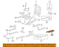 Toyota 72157-0C010-B0 Seat Track Bracket Cover