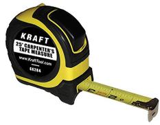 Kraft Tool GG284 Carpenters Tape Measure, 25-Feet