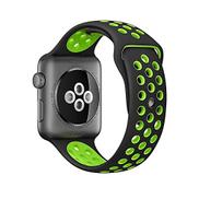 سوار رياضي جديد بديل من السيليكون لساعة Apple Watch Series 2 1 42mm أسود + أخضر
