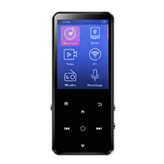 Bundle of 2, Docooler BENJIE K11 8GB MP3 MP4 Digital Player Metal BT Music Video Player w 2.4 Inches Screen Touch Buttons FM Radio Voice Recording E-Book TF Card Reader