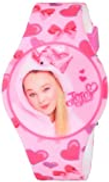 Nickelodeon Girls' Quartz Watch with Rubber Strap, Pink, 25 Model: JOJ4011