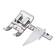 1-4 Quarter Inch Quilting Sewing Machine Presser Foot with Edge Guide - Fits All Low Shank Snap-On Singer, Brother, Babylock, Janome, Kenmore, White, Juki, Simplicity, Elna and More