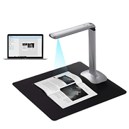 Ikayaa Aibecy F50 Foldable HD High Speed USB Book Image Document Camera Scanner 15 Mega-Pixels A3 & A4 Scanning Size with LED Light for Classroom Office Library Bank for Windows