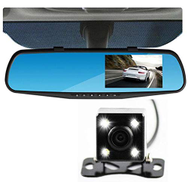 Other Dash Cam Video Recorder Dual Lens Rear-view Mirror Car Camera DVR 4.3 Inch 1080HD