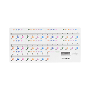 Muslady Transparent Removable Piano Keyd Stickers for 61-key Keyds for Kids Beginners Piano Practice