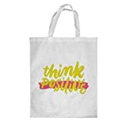 Decalac Printed Shopping bag, Large Size, think positive